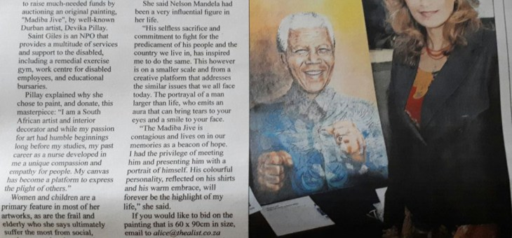 Madiba Jive' goes on auction for St Giles