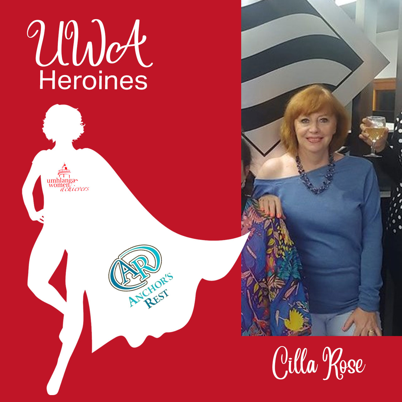 We want to shout out to an exceptional UWA Heroine, well done Cilla Rose